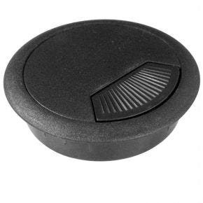 Wall / Desk Grommet For Cable Management 60mm Black 1652854BL