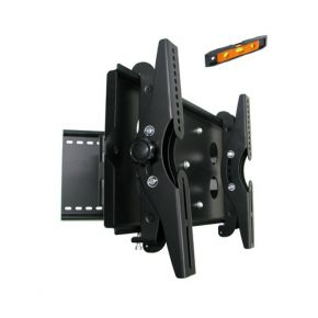 23-37 Inch LED LCD Plasma TV Wall Mount Bracket Silver Full Motion Tilt Pivot PLB110S.bk