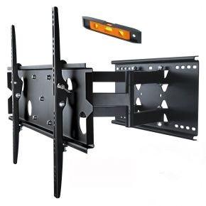 """37-60"""" LED LCD Plasma TV Full Motion Tilt Swivel Pivot Wall Mount Slim Bracket PLB127B.bl"""
