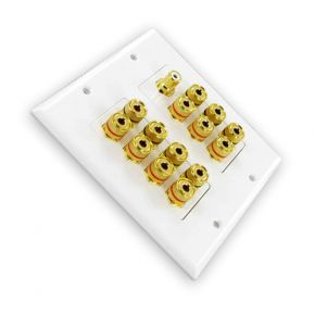 7.1 Home Theatre Speaker Cable Wall Plate Dolby Digital A1144A