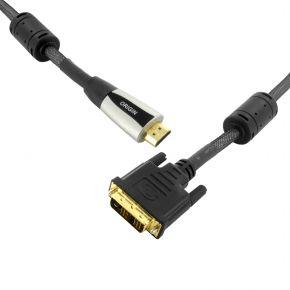1.5m Origin Premium Quality HDMI to DVI-D Plug Video Cable Lead NEO9101