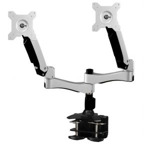 Dual Arm lnteractive 2 LCD Screen Monitor Mount with Desk Clamp Base CMC040