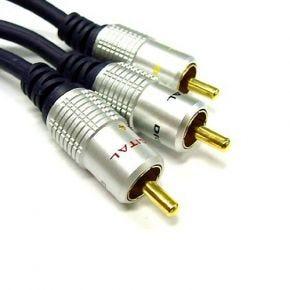3RCA AV Cable Cord Composite Video Stereo Audio Red White Yellow AV9503