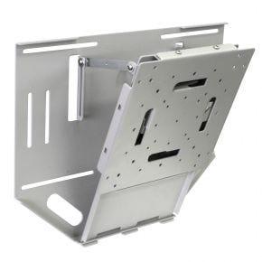 """24-42"""" 40kg B-Tech LCD LED TV Slim Tilt Wall Mount Bracket Silver Commercial BT7531"""