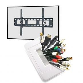 "32-52"" Tilt TV Wall Bracket + Installation Kit"
