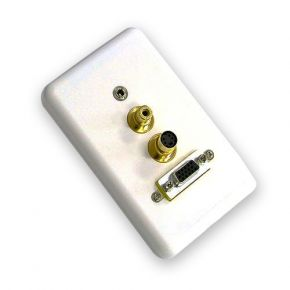 Neotech Composite Video S-Video SVHS VGA IR Cable Wall Plate NWP110