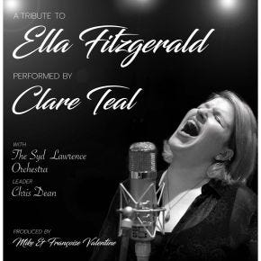 Clare Teal - A Tribute To Ella Fitzgerald Chasing The Dragon Live CD