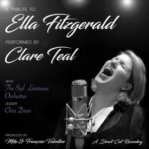 Clare Teal - A Tribute To Ella Fitzgerald Live LP Chasing The Dragon Direct Cut Vinyl