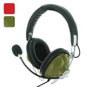 Avico COM-1 Gamesters Communicator Over Ear Headset Headphones 40mm Driver