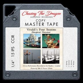 Vivaldi's Four Seasons Chasing The Dragon Master Quality Reel to Reel Tape