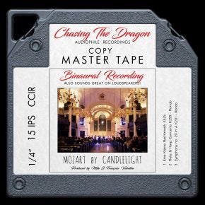 Mozart by Candlelight Binaural Chasing The Dragon Master Quality Reel to Reel Tape