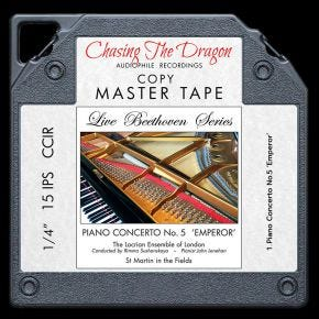 Live Beethoven Series - Piano Concerto No 5 'Emperor' Chasing The Dragon Master Quality Reel to Reel Tape