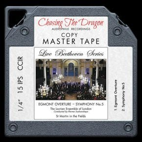 Live Beethoven Series - Egmont Overture & Symphony No 5 Live Chasing The Dragon Master Quality Reel to Reel Tape