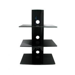 Triple Glass Shelf Unit for Wall Mounting DVD/Receiver DRS103BB