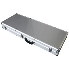 Electric Guitar Case Lockable Hard Road Case Black Aluminium EC500AF