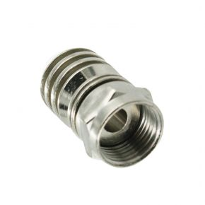 F-Type Crimp Connector for RG6 Coaxial Antenna Cable FCRIMP