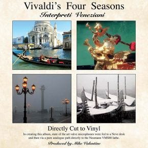 Vivaldi's Four Seasons LP Chasing The Dragon Direct Cut Vinyl