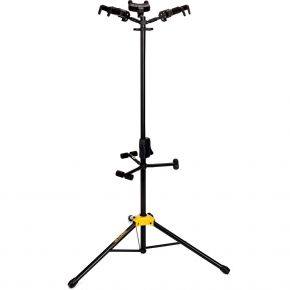 Hercules Triple Guitar Stand With Backrest & Auto Grip GS432B