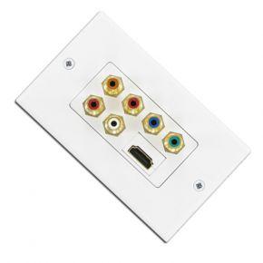 HDMI Component + Audio Wallplate A1258A