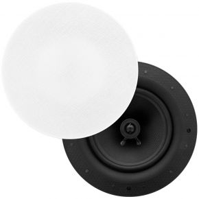 "Selby 8"" Ultra Discreet Edgeless Frameless In Ceiling Speakers Pair ICFS8"