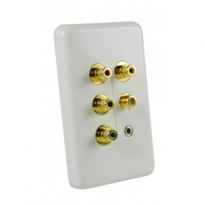 Neotech Origin Component / Composite / F-Type Coax / IR Wall Plate NSP117