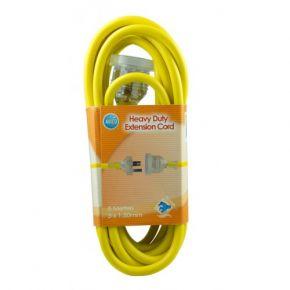 5m Avico Heavy Duty Yellow 240v Power Extension Cord PC35