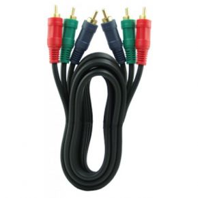 1.5m Gold Plated Component RGB Video Cable 3RCA to 3RCA VC301