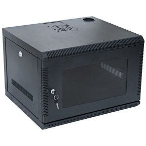 6U 19 Inch Wall Mount Rack Cabinet for Networking and Comms 450mm Deep WC6U