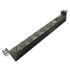 "Jackson 19"" Rack Mount 6-Way Surge Protect Power Board"