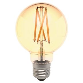 Laser 7W Smart G80 Filament Bulb Amber E27 Edison Screw