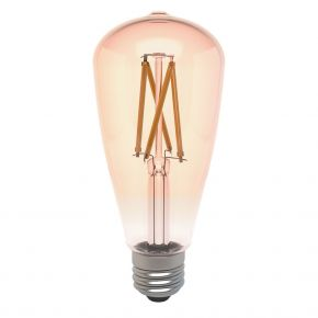 Laser 7W Smart ST64 Filament Bulb Amber E27 Edison Screw
