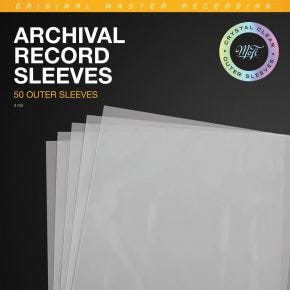 Mobile Fidelity Clear Archival Record Outer Sleeves 50pk MFSLCOS