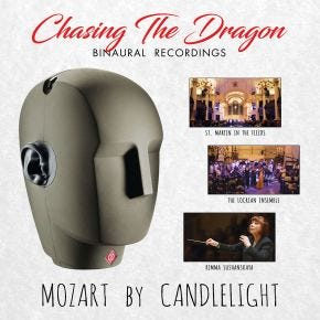 Mozart by Candlelight LP Chasing The Dragon Binaural Vinyl