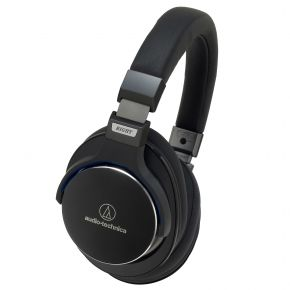 Audio-Technica ATH-MSR7 Black Premium High Res On-Ear Headphones w/ Control