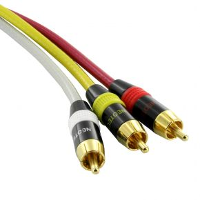 1.5m Neotech 3RCA to 3RCA Composite AV Audio Video Cable NC3501