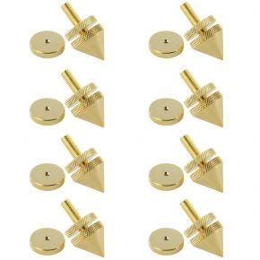 8 Pack of Speaker Equipment Isolation Cones Spikes Gold Plated with Height Adjustment Spike20.8pk