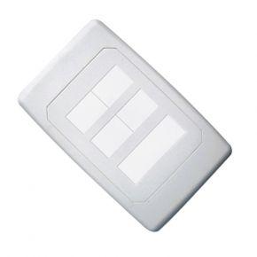 Crest 6 Hole Blank Custom Keystone Wall Plate CWPBLANK