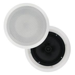 Pair of 8inch In Ceiling Surround Speakers Carbon Cone 150W CS809