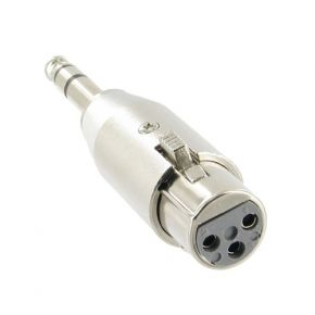 3 Pin XLR MIC Female to 1/4 inch Stereo Male Adaptor PJ0634A