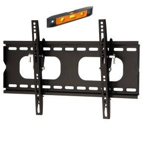 "27-37"" inch Slimline Tilt LCD LED TV Monitor Wall Mount Bracket Black Max 45kg PLB118S.bl"