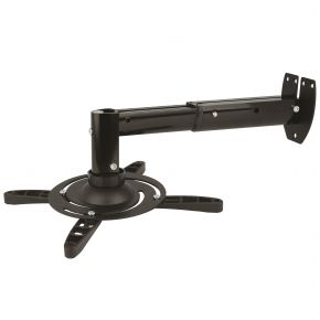 Extendable LCD / DLP Projector Bracket WALL Mount 15kg Black PM103b