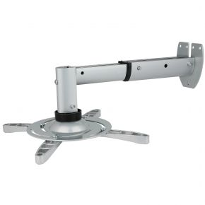 Extendable LCD / DLP Projector Bracket WALL Mount 15kg Silver PM103s