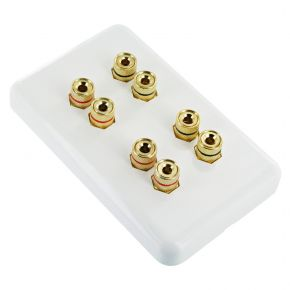 Premium Pre-Assembled Wall Plate for 4 Speakers WP1024