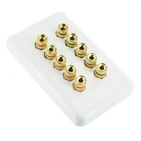 Premium Pre-Assembled Wall Plate for 5 Speakers WP1025