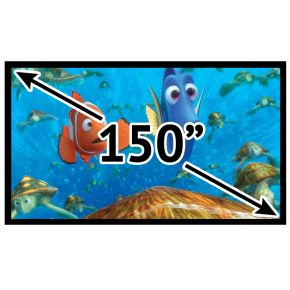 "Fixed Frame Deluxe 16:9 Projector Screen 150"" Inch PSF169150P"