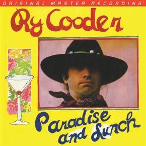 Ry Cooder - Paradise and Lunch MoFi LP 180g Numbered Limited Edition