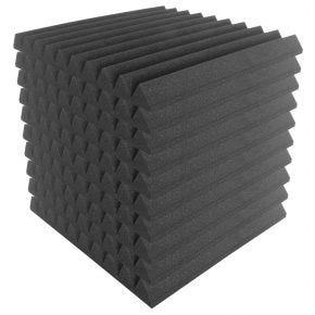 10pk 50x50cm Sound Foam Acoustic Treatment Panels Tiles 'Wedge' SA3500