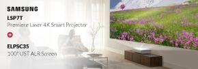 "Samsung LSP7T Premiere Laser 4K Smart Projector + Epson 100"" UST ALR Screen"