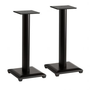 Pair of 60cm Sanus Natural Series NF24 Wood Speaker Stands for Bookshelf Speakers