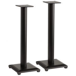 Pair of 75cm Sanus Natural Series NF30 Wood Speaker Stands for Bookshelf Speakers